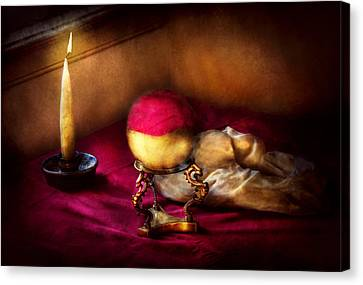 Fantasy - The Crystal Ball Canvas Print by Mike Savad