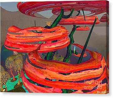 Canvas Print featuring the digital art Fantasy Trees by Susanne Baumann