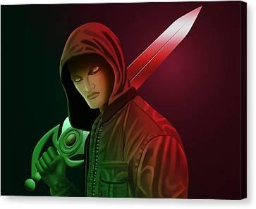 Fantasy Vampire Canvas Print by Kriss Orayan