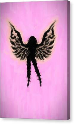 Fantasy Woman Angelish Canvas Print