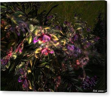 Canvas Print featuring the digital art Fantasyflowers by Susanne Baumann