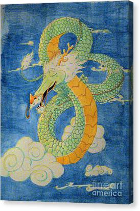 Canvas Print featuring the painting Far East Wind Rider by Wendy Coulson