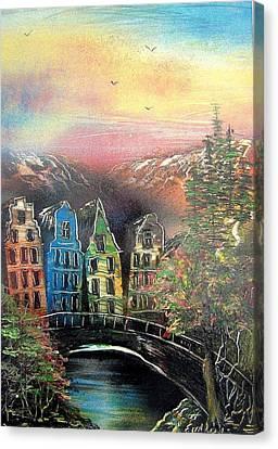 Far Far Away Canvas Print by Evaldo Art