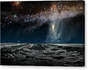 Far Future Earth Canvas Print by Don Dixon