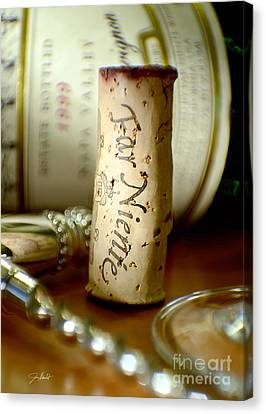 White Wine Canvas Print - Far Niente Uncorked by Jon Neidert