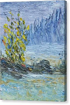 Far Off Woodland Lough Hyne. Canvas Print
