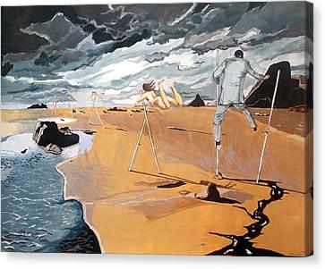 Faraway Lejanias Canvas Print by Lazaro Hurtado