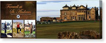 Farewell At St. Andrews Canvas Print