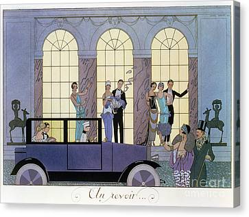 Farewell Canvas Print by Georges Barbier