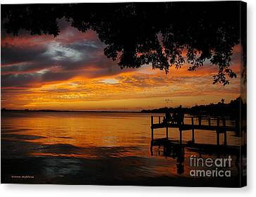 Canvas Print featuring the photograph Farewell Sunset by Tannis  Baldwin