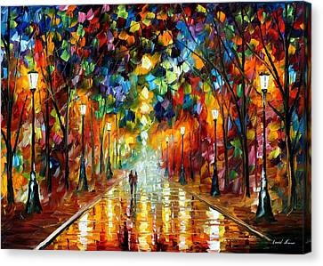 Farewell To Anger - Palette Knife Oil Painting On Canvas By Leonid Afremov Canvas Print by Leonid Afremov