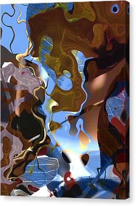 Canvas Print featuring the digital art Fargo by Richard Thomas