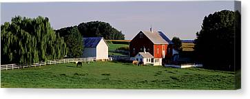 Farm, Baltimore County, Maryland, Usa Canvas Print by Panoramic Images