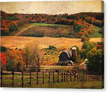 Farm Country Autumn - Sheldon Ny Canvas Print