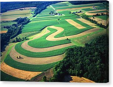 Farm Designs Pennsylvania Aerial Canvas Print
