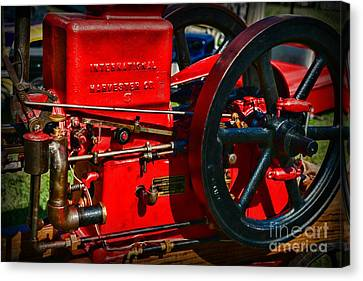 Farm Equipment - International Harvester Feed And Cob Mill Canvas Print by Paul Ward
