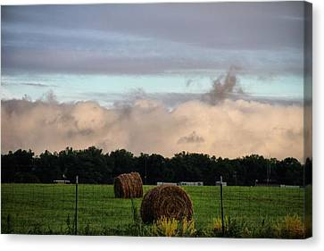 Farm Field Drama Canvas Print by Dan Sproul