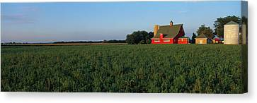 Farm Fields Stelle Il Usa Canvas Print by Panoramic Images