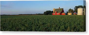 Farm Fields Stelle Il Usa Canvas Print