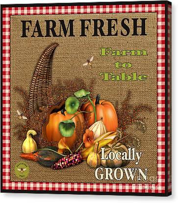 Farm Fresh-jp2384 Canvas Print by Jean Plout