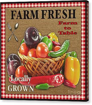 Farm Fresh-jp2385 Canvas Print by Jean Plout