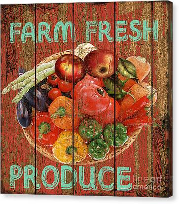 Produce Canvas Print - Farm Fresh Produce by Jean PLout