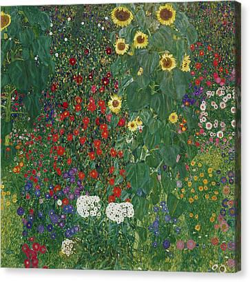 Farm Garden With Flowers Canvas Print