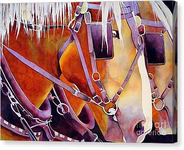 Farm Horses Canvas Print by Robert Hooper