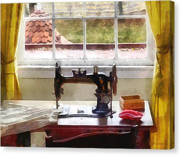 Farm House With Sewing Machine Canvas Print by Susan Savad