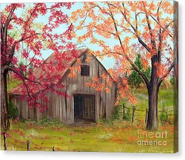 Farm In Autum Canvas Print