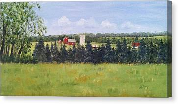 Farm In Rushland Canvas Print