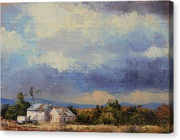 Farm In The Karoo Canvas Print