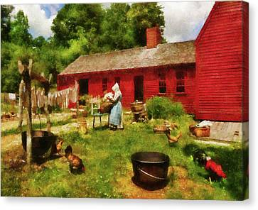 Keeper Canvas Print - Farm - Laundry - Old School Laundry by Mike Savad