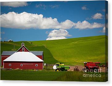 Farm Machinery Canvas Print by Inge Johnsson