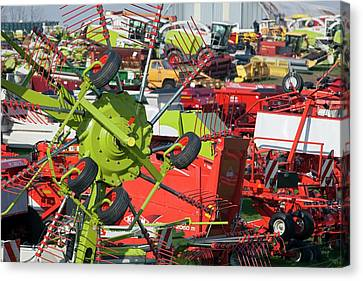 Farm Machinery Canvas Print by Jim West
