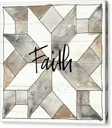 Block Quilts Canvas Print - Farm Memories Xi Faith by Anne Tavoletti