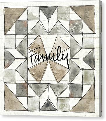 Block Quilts Canvas Print - Farm Memories Xii Family by Anne Tavoletti