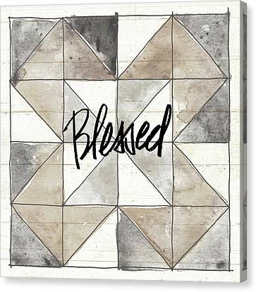Block Quilts Canvas Print - Farm Memories Xiii Blessed by Anne Tavoletti
