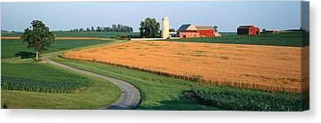 Farm Nr Mountville Lancaster Co Pa Usa Canvas Print by Panoramic Images