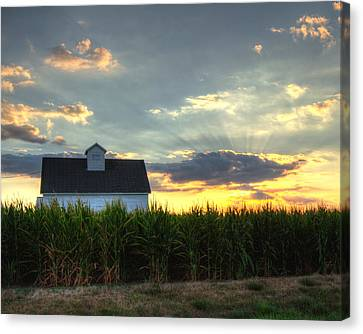 Farm-scape Canvas Print by Coby Cooper