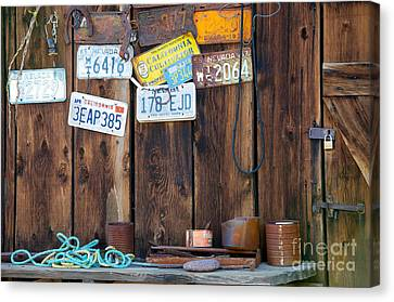 Canvas Print featuring the photograph Farm Shed Memories by Vinnie Oakes