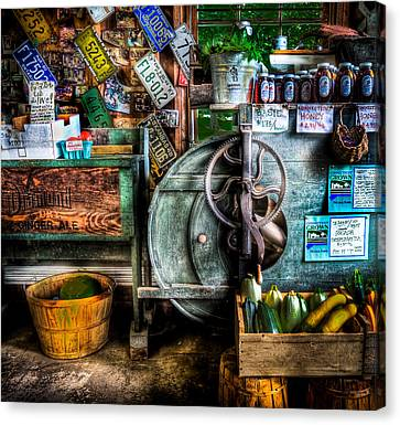 Farm Stand Two Canvas Print by Ercole Gaudioso