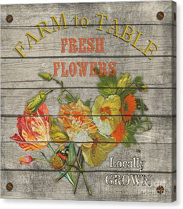 Farm To Table Flowers-jp2633 Canvas Print by Jean Plout