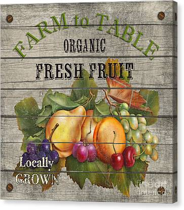 Farm To Table Fruit-jp2631 Canvas Print by Jean Plout