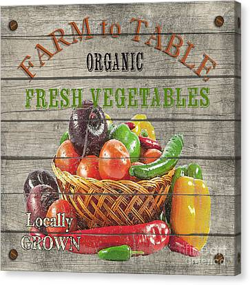 Locally Grown Canvas Print - Farm To Table Vegetables-jp2632 by Jean Plout