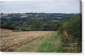 Farm Tractor 2 Canvas Print by John Williams