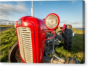 Farm Tractor, Flatey Island Canvas Print by Panoramic Images