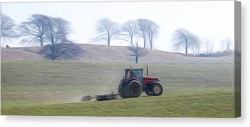 Farm Tractor Canvas Print by Stefan Petrovici