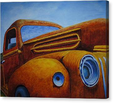 Farm Truck Canvas Print by Xochi Hughes Madera