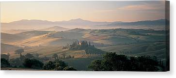 Farm Tuscany Italy Canvas Print by Panoramic Images